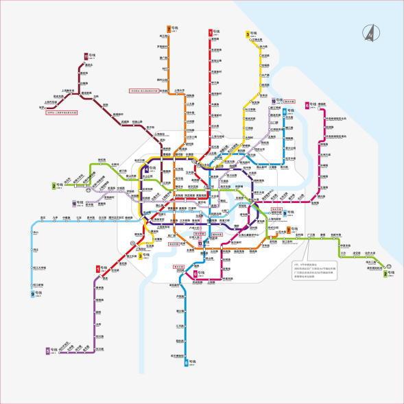 上海最新地下鉄路線図
