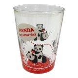 パンダガラスコップ《赤》 :家庭用品,中国商品市場,中国貿易,中国企業情報