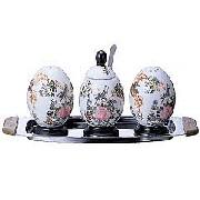 中国花鳥柄調味料入れ3点セット:家庭用品,中国商品市場,中国貿易,中国企業情報