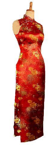 チャイナドレス 袖なしロング 寿菊柄:フアッション,中国商品市場,中国貿易,中国企業情報