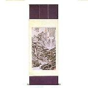 中国高級山水掛軸(桐箱入り):インテリア,中国商品市場,中国貿易,中国企業情報