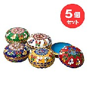 七宝焼小物入れ5コセット:アクセサリー品,中国商品市場,中国貿易,中国企業情報