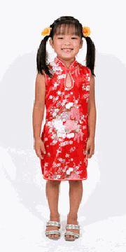 女児用チャイナドレス 赤:フアッション,中国商品市場,中国貿易,中国企業情報