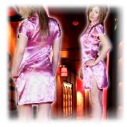 龍柄刺繍 チャイナドレス ショートタイプ ロイヤルピンク :フアッション,中国商品市場,中国貿易,中国企業情報