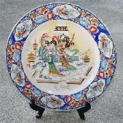 広彩焼絵皿 天女:インテリア,中国商品市場,中国貿易,中国企業情報